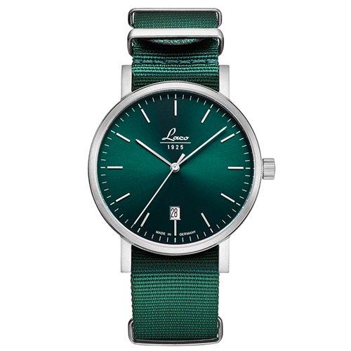 ラコ/LACO/腕時計/クラシックウォッチ/15自動巻き/862076/Petrol 40/ペットロール40/ドイツメイド/グリーン×グリーン