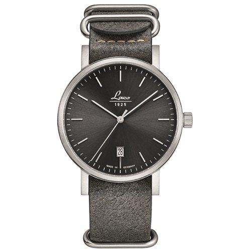 ラコ/LACO/腕時計/クラシックウォッチ/15自動巻き/862078/Stone 40/ストーン40/ドイツメイド/ブラック×グレー