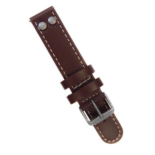 ラコ/LACO/腕時計/替えベルト/レザーストラップ/401911/ブラウン/18ミリ幅