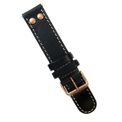 ラコ/LACO/腕時計/替えベルト/レザーストラップ/401863/ブラック/20ミリ幅