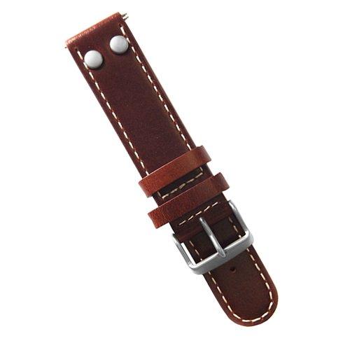ラコ/LACO/腕時計/替えベルト/レザーストラップ/401859XL/ブラウン/20ミリ幅