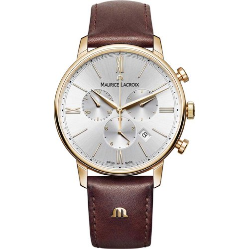 モーリスラクロア/Maurice Lacroix/腕時計/Eliros/EL1098-PVP01-111-1/クロノグラフ/スイスメイド/シルバー×ブラウン