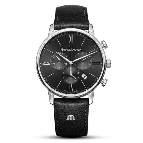 モーリスラクロア/Maurice Lacroix/腕時計/Eliros/EL1098-SS001-310-1/クロノグラフ/スイスメイド/ブラック×ブラック