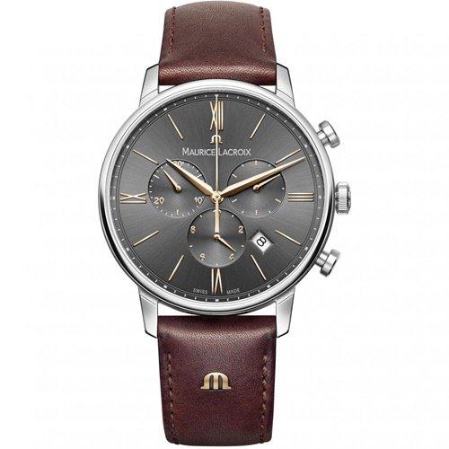 モーリスラクロア/Maurice Lacroix/腕時計/エリロス/Eliros/EL1098-SS001-311-1/クロノグラフ/スイスメイド/ダークグレー×ブラウン