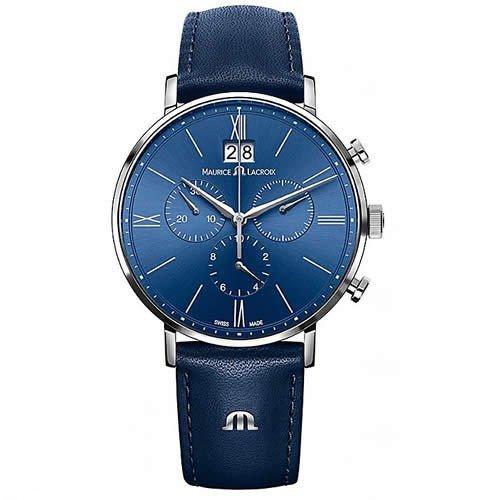 モーリスラクロア/Maurice Lacroix/腕時計/エリロス/Eliros/EL1098-SS001-410-1/クロノグラフ/スイスメイド/ブルー×ブルー