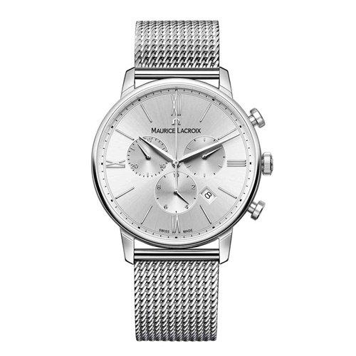 モーリスラクロア/Maurice Lacroix/腕時計/エリロス/Eliros/EL1098-SS002-110-1/クロノグラフ/スイスメイド/オールシルバー