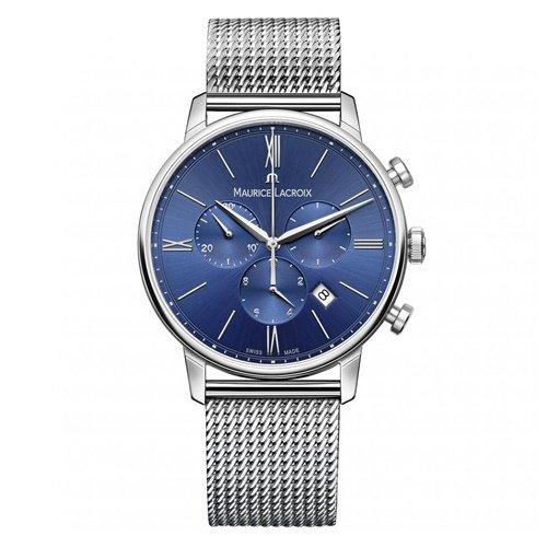 モーリスラクロア/Maurice Lacroix/腕時計/エリロス/Eliros/EL1098-SS002-410-1/クロノグラフ/スイスメイド/ブルー×シルバー