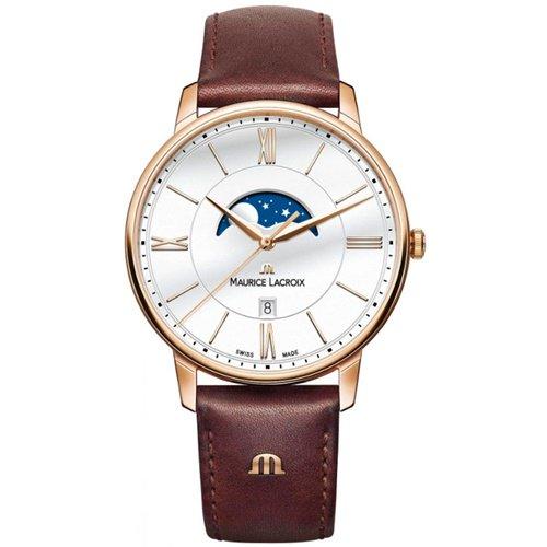 モーリスラクロア/Maurice Lacroix/腕時計/エリロス/Eliros/EL1108-PVP01-112-1/ムーンフェイズ/スイスメイド/ホワイト×ブラウン