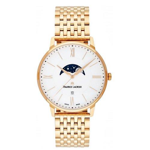 モーリスラクロア/Maurice Lacroix/腕時計/エリロス/Eliros/EL1108-PVP06-112-1/ムーンフェイズ/スイスメイド/ホワイト×ゴールド