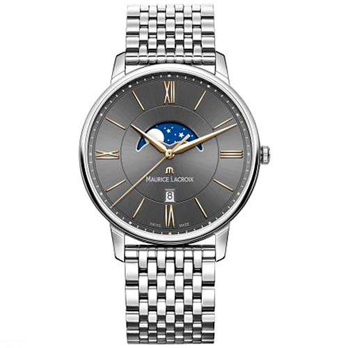 モーリスラクロア/Maurice Lacroix/腕時計/エリロス/Eliros/EL1108-SS002-311-1/ムーンフェイズ/スイスメイド/ブラック×シルバー