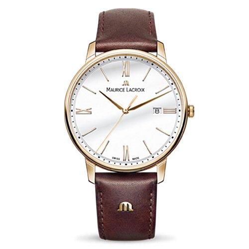 モーリスラクロア/Maurice Lacroix/腕時計/エリロス/Eliros/EL1118-PVP01-111-1/デイトカレンダー/スイスメイド/シルバー×ブラウン