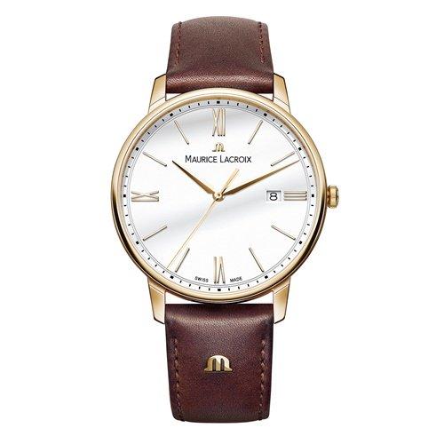 モーリスラクロア/Maurice Lacroix/腕時計/エリロス/Eliros/EL1118-PVP01-112-1/デイトカレンダー/スイスメイド/ホワイト×ブラウン