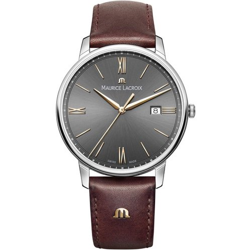 モーリスラクロア/Maurice Lacroix/腕時計/エリロス/Eliros/EL1118-SS001-311-1/デイトカレンダー/スイスメイド/グレー×ブラウン