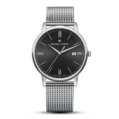 モーリスラクロア/Maurice Lacroix/腕時計/エリロス/Eliros/EL1118-SS002-310-1/デイトカレンダー/スイスメイド/ブラック×シルバー