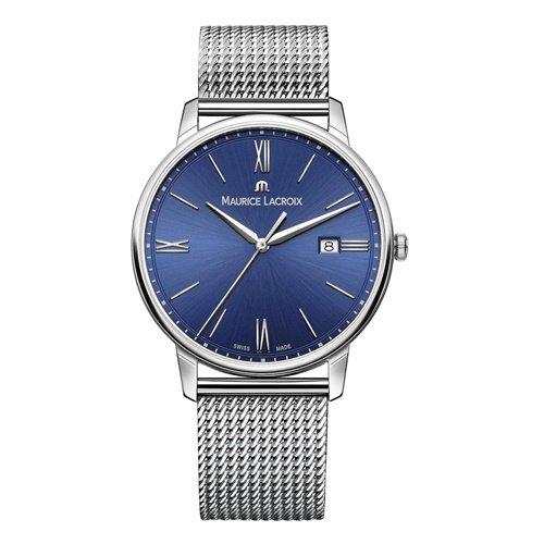 モーリスラクロア/Maurice Lacroix/腕時計/エリロス/Eliros/EL1118-SS002-410-1/デイトカレンダー/スイスメイド/ブルー×シルバー