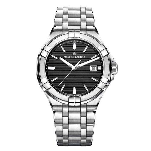 モーリスラクロア/Maurice Lacroix/腕時計/アイコン/AIKON/メンズ/AI1008-SS002-331-1/スイスメイド/ブラック/スチールベルト