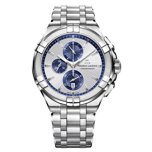 モーリスラクロア/Maurice Lacroix/腕時計/アイコン/AIKON/クロノグラフ/メンズ/AI1018-SS002-131-1/スイスメイド/シルバー/ステンレスベルト