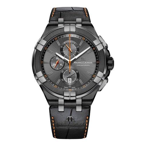 モーリスラクロア/Maurice Lacroix/腕時計/アイコン/AIKON/クロノグラフ/メンズ/AI1018-PVB01-334-1/スイスメイド/ブラック
