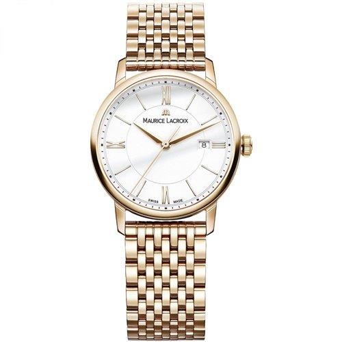 モーリスラクロア/Maurice Lacroix/腕時計/エリロス/Eliros/レディース/EL1094-PVP06-111-1/スイスメイド/デイト/4N PVD/ホワイト/9連ブレス