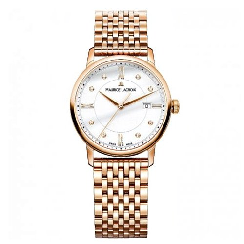 モーリスラクロア/Maurice Lacroix/腕時計/エリロス/Eliros/レディース/EL1094-PVP06-150-1/スイスメイド/デイト/4N PVD/ホワイト/9連ブレス