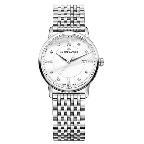 モーリスラクロア/Maurice Lacroix/腕時計/エリロス/Eliros/レディース/EL1094-SS002-150-1/スイスメイド/デイト/ダイヤモンド/ホワイト/9連ブレス
