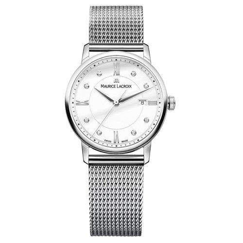 モーリスラクロア/Maurice Lacroix/腕時計/エリロス/Eliros/レディース/EL1094-SS002-150-2/スイスメイド/デイト/ダイヤモンド/ホワイト/ミラネーゼ