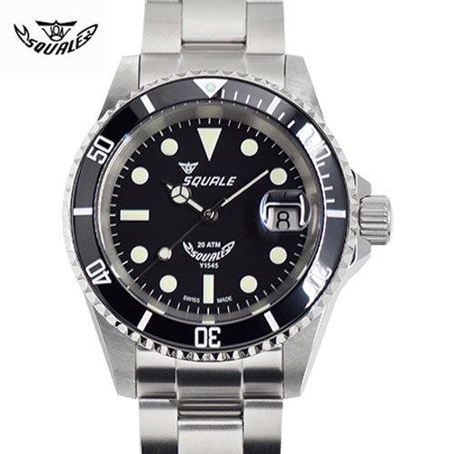 スクワーレ/Squale/時計/1545-MAXI/200M防水/セラミックベゼル/オートマチック/スイスメイド/ダイバーズ/ブラック