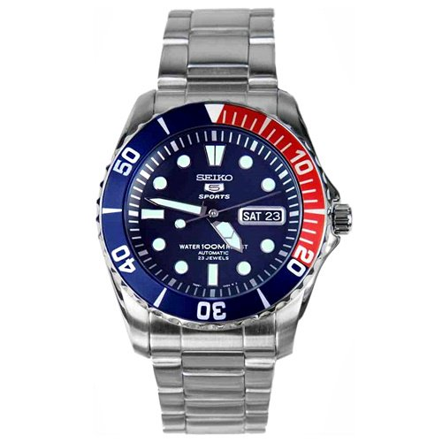 セイコー/SEIKO/逆輸入/腕時計/SEIKO 5/セイコーファイブ/SNZF15K1/メンズ/オートマチック/ダイバーズ/ジャパンメイド/デイデイト/ブルー