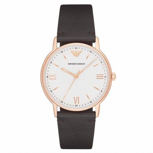 エンポリオアルマーニ/Emporio Armani/腕時計/メンズ/Kappa/AR11011/クォーツ/ホワイト×ブラウン