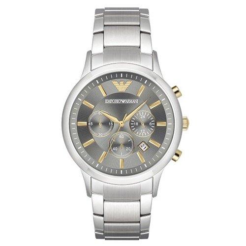 エンポリオアルマーニ/Emporio Armani/腕時計/メンズ/Renato/AR11047/クォーツ/クロノグラフ/グレー×シルバー