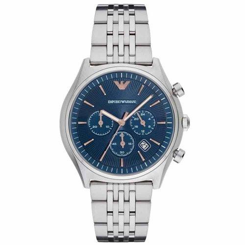エンポリオアルマーニ/Emporio Armani/腕時計/メンズ/Dress/AR1974/クォーツ/クロノグラフ/デイトカレンダー/ブルー×シルバー