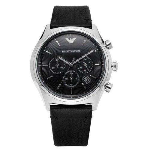 エンポリオアルマーニ/Emporio Armani/腕時計/メンズ/ZETA/AR1975/クォーツ/クロノグラフ/デイトカレンダー/ブラック×ブラック