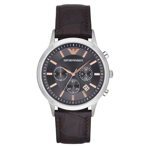エンポリオアルマーニ/Emporio Armani/腕時計/メンズ/Renato/レナト/AR2513/クォーツ/クロノグラフ/グレー×ブラウン