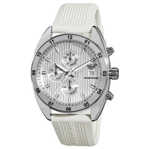 エンポリオアルマーニ/Emporio Armani/腕時計/メンズ/Sportivo/スポルティーボ/AR5929/クォーツ/クロノグラフ/シルバー×ホワイト
