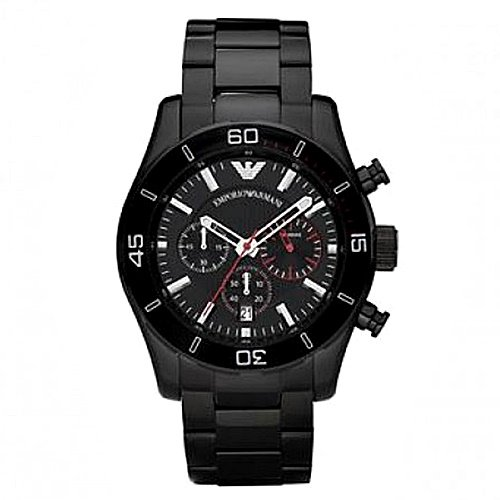 エンポリオアルマーニ/Emporio Armani/腕時計/メンズ/Sportivo/スポルティーボ/AR5931/クォーツ/クロノグラフ/ブラック