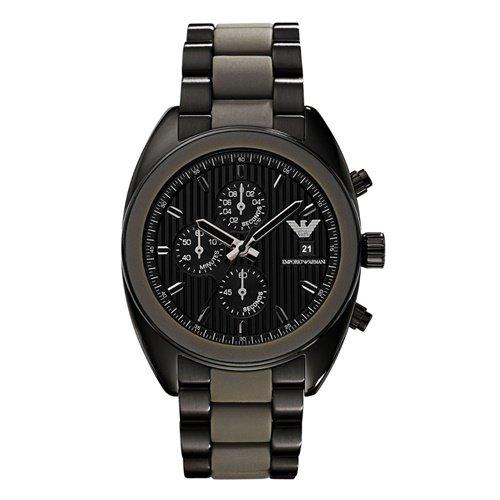 エンポリオアルマーニ/Emporio Armani/腕時計/メンズ/Sportivo/スポルティーボ/AR5953/クォーツ/クロノグラフ/ブラック