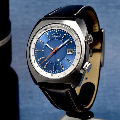 アルピナ/Alpina/腕時計/STARTIMER PILOT/HERITAGE GMT/メンズ/スイスメイド/AL-555LNS4H6/オートマチック/サンセットブルー/パイロットウォッチ