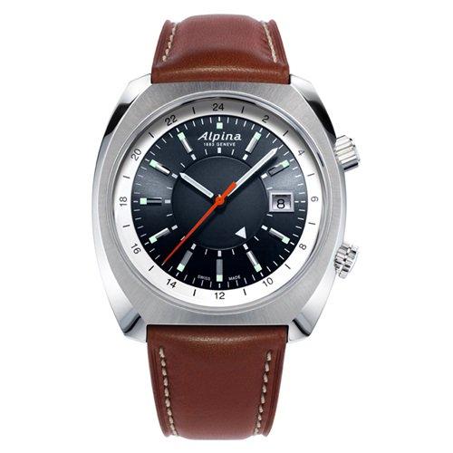 アルピナ/Alpina/腕時計/STARTIMER PILOT/HERITAGE GMT/メンズ/スイスメイド/AL-555DGS4H6/オートマチック/ダークグレー/パイロットウォッチ
