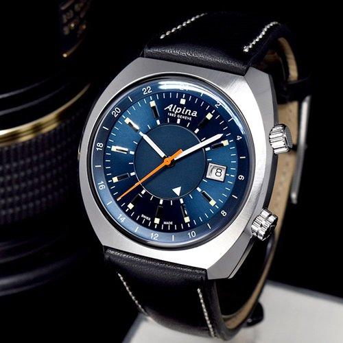 アルピナ/Alpina/腕時計/STARTIMER PILOT/HERITAGE GMT/メンズ/スイスメイド/AL-555N4H6/オートマチック/グレイシャーブルー/パイロットウォッチ