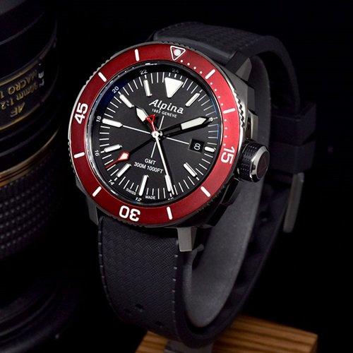 アルピナ/Alpina/腕時計/SEASTRONG DIVER/メンズ/スイスメイド/AL-247LGBRG4TV6/クォーツ/ダイバー/ダークグレー