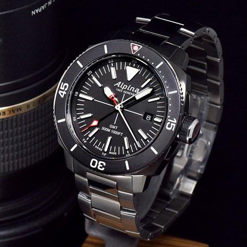アルピナ/Alpina/腕時計/SEASTRONG DIVER/メンズ/スイスメイド/AL-247LGG4TV6B/クォーツ/ダイバー/ブラック