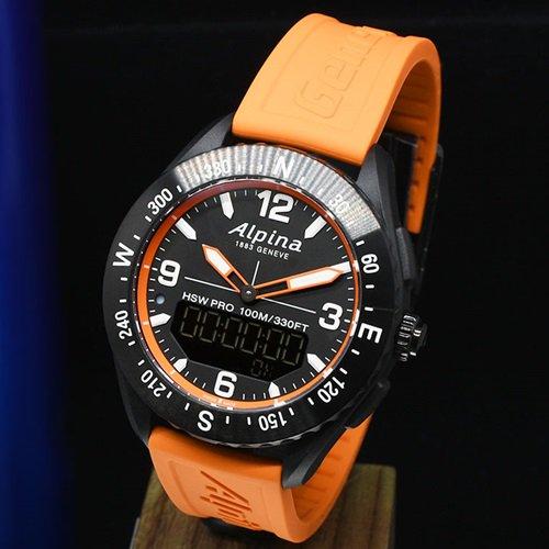 アルピナ/Alpina/腕時計/ALPINERX/アルパイナーX/メンズ/スイスメイド/AL-283LBN5NAQ6/オレンジ/スマートウォッチ