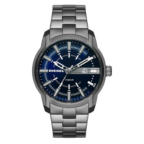 ディーゼル/Diesel/腕時計/ARMBAR/アームバー/メンズ/DZ1768/クォーツ/デイトカレンダー/ブルー×シルバー