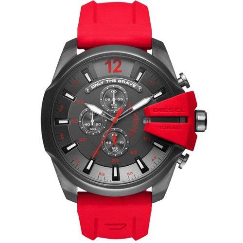 ディーゼル/Diesel/腕時計/MEGA CHIEF/メガチーフ/メンズ/DZ4427/クロノグラフ/クォーツ/ガンメタル×レッド
