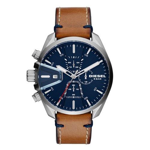 ディーゼル/Diesel/腕時計/MS9/メンズ/DZ4470/クォーツ/クロノグラフ/デイトカレンダー/ネイビー×ブラウン
