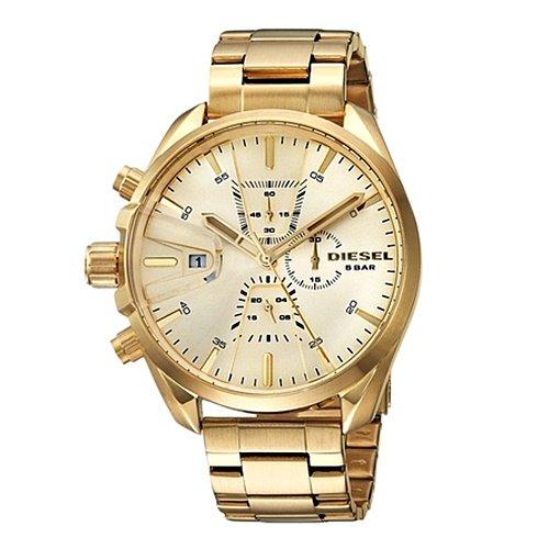 ディーゼル/Diesel/腕時計/MS9/メンズ/DZ4475/クォーツ/クロノグラフ/デイトカレンダー/オールゴールド