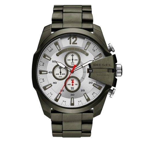 ディーゼル/Diesel/腕時計/MEGA CHIEF/メガチーフ/メンズ/DZ4478/クロノグラフ/クォーツ/シルバー×オリーブカラー