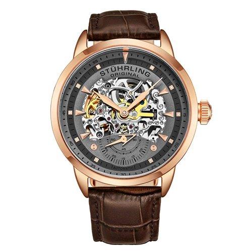 ストゥーリングオリジナル/Stuhrling Original/腕時計/Legacy/Executive133/133.3345K54/メンズ/オートマチック/スケルトン/ローズゴールドケース