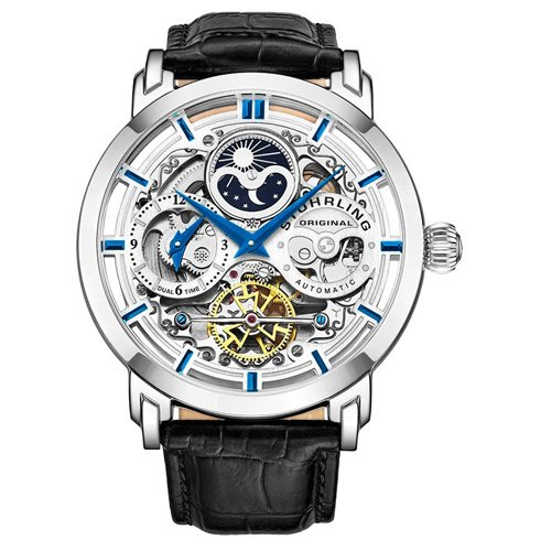 ストゥーリングオリジナル/Stuhrling Original/腕時計/Legacy/Anatol 371/371.01/メンズ/オートマチック/デュアルタイム/AM/PMインジケータ/シルバー