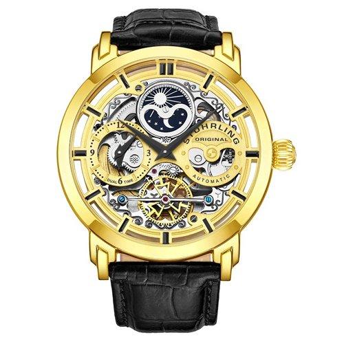 ストゥーリングオリジナル/Stuhrling Original/腕時計/Legacy/Anatol 371/371.02/メンズ/オートマチック/デュアルタイム/AM/PMインジケータ/ゴールド